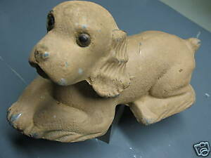 COCKER-SPANIEL-VINTAGE-COIN-BANK-CAST-METAL-PLASTO-MFG