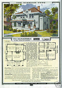 1920s Sears House Mission Style home plans