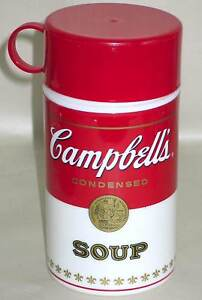 CAMPBELLS-SOUP-Can-Tainer-PLASTIC-INSULATED-THERMOS-Logo
