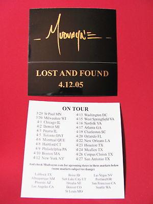 LOT 2 Mudvayne Tour Mirrored Letters Amp Board Sticker
