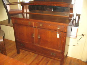 Mission-Oak-China-Buffet-Come-Packt-Sideboard-Mirror