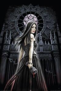 ANNE-STOKES-POSTER-Gothic-Siren-full-moon-blood-NEW