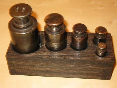 Großes Gewichte Set in Holzbox 5 Gewichte 1,85 Kg