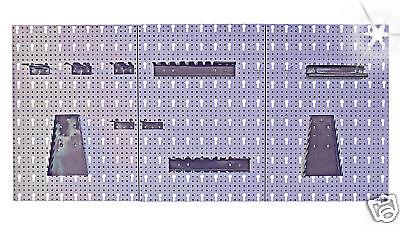 Lochwand 3-teilig Werkstattwand Metall 120 cm Werkzeugwand Werkzeug Halter Haken