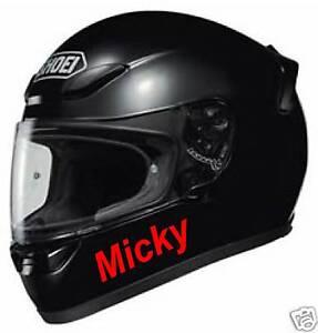 CRASH HELMET NAME Decal Graphic Sticker Bike X Visor EBay - Motorcycle helmet decals graphics