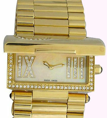 CERRUTI LADIES SCATOLA SOGNO SWISS WATCH NEW STAINLESS GOLD TONE CT68282X415041