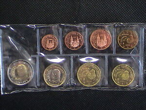 Spain-Full-Set-8-Mon-from-1-Cent-EUR-2-years-mix
