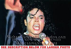 michael jackson bad tour closeup 1 rare 8x10 photo ebay