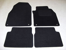 Saab 9-3 Convertible 2003-11 Fully Tailored Deluxe Car Mats in Black