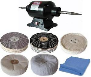 6 Polishing Wheels Bench Grinder Spindle Adaptors Ebay