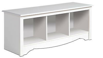 new white prepac large cubbie bench 4820 storage usd 114. Black Bedroom Furniture Sets. Home Design Ideas