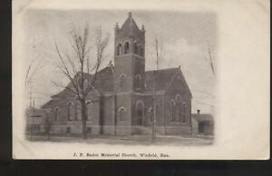 Postcard-WINFIELD-KS-J-P-Baden-Memorial-Church-1907