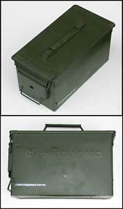 Genuine-Ex-UK-NATO-Metal-Weatherproof-Ammo-Box-Large