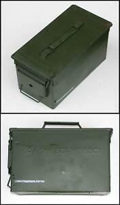 Genuine-Ex-UK-NATO-Metal-Weatherproof-Ammo-Box-Large