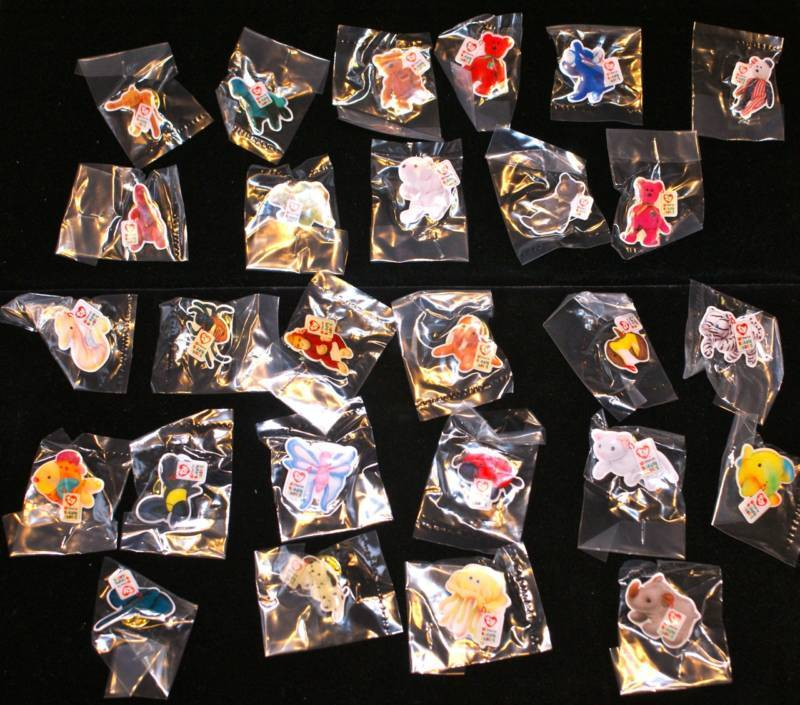 2000 Ty Mcdonalds Set 27 Teenie Beanie Babies Baby Crew Pins Lapel Pin Lot