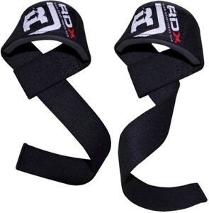 RDX Padded Weight Lifting Training Gym Straps Hand Bar Wrist Support Gloves Wrap