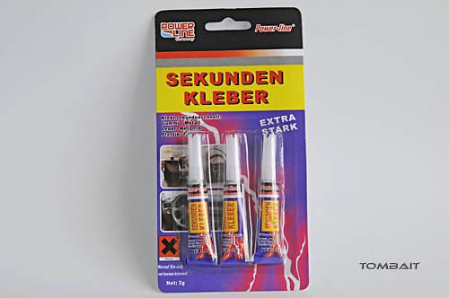 3 Tuben Universal Sekundenkleber von Power Line Kleber Germany!