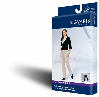 Sigvaris 841c Soft Opaque 15-20 Mmhg Open Toe Knee High C...