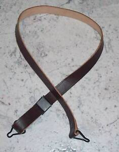 U.S. M1 LEATHER HELMET CHIN STRAP - WW2 STEEL POT MINT ORIGINAL