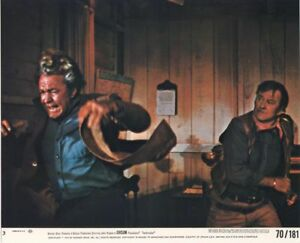 CHISUM-original-color-photo-JOHN-WAYNE-FORREST-TUCKER-studio-lobby-still