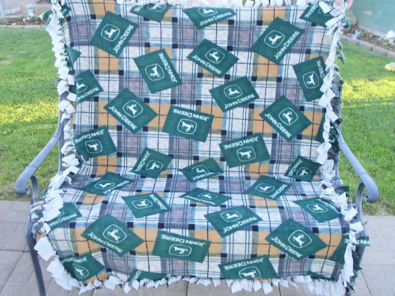John Deere Logo Fleece Blanket