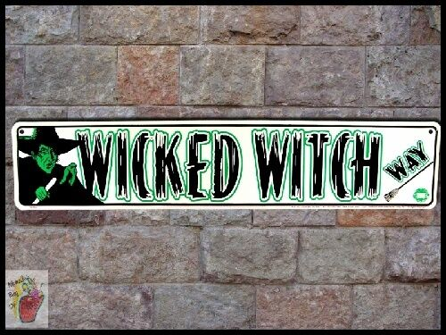 New Wizard of Oz Evil WICKED WITCH WAY L Frank Baum Metal Bar Sign Free Ship  SS