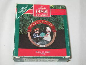 1991 Hallmark Ornament Peace On Earth Italy First In Series