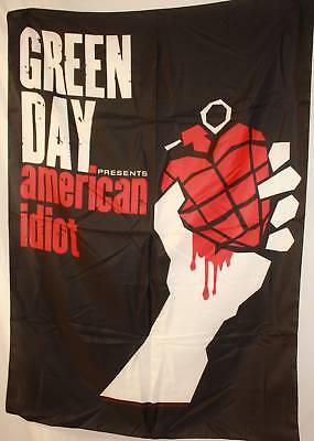 Green Day Greenday American Idiot Cloth Poster Flag Fabric Wall Banner-Brand New