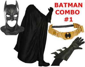 Batman Begins The Dark Knight Rises costume cowl mask, cape, belt TDK TDKR