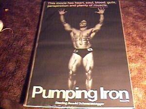 pumping iron rolled 27x41 movie poster schwarzenegger ebay