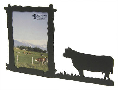 Cow 3x5 Black Metal Picture Frame