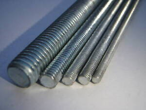 ZINC-PLATED-STEEL-M6-6MM-THREADED-BAR-STUDDING-200mm