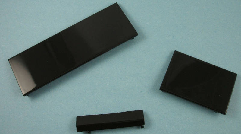 Black Wii Replacement Game Cube Controller Port Covers