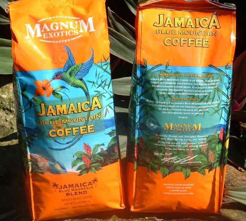 Jamaican Blue Mountain Coffee Blend Whole Bean 2 Lbs Jamaica Free Priority Ship