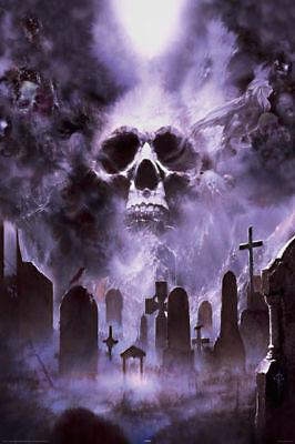 Poster FOURNIER - Cemetery Skull / Fantasy  NEU  57287