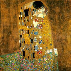 THE KISS COUPLE LOVE ROMANTIC PAINTING BY GUSTAV KLIMT ON ...