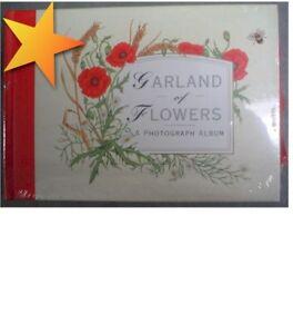 NEW-Garland-of-Flowers-Red-Photo-Album-WZ15509