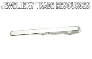 NEW-STERLING-SILVER-925-TIE-SLIDE-CLIP-50x4mm