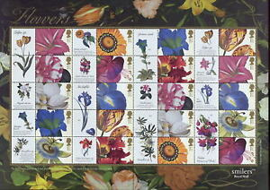 GB-QE2-SMILERS-SHEET-2003-FLOWERS
