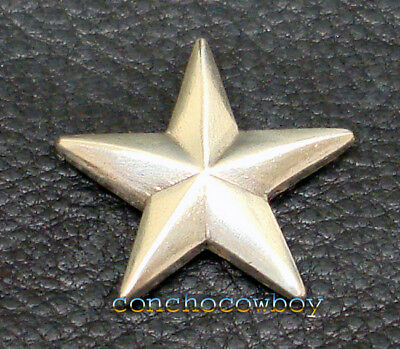 "WESTERN SADDLE ANTIQUE SILVER STAR CONCHO 3/4"" screw back"