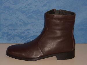 Elegante Marrone 44 Stivali Pelle Tronchetti Uomo Boots qxfZT