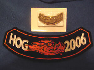 HARLEY-DAVIDSON-2006-HOG-PIN-PATCH-NEW-LOOK-BUY-IT