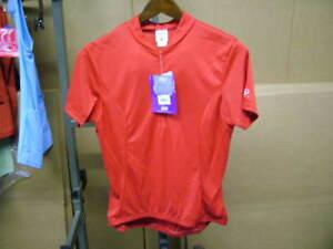 New-Red-Danskin-Velo-Short-Sleeve-Jersey-Womens-Large