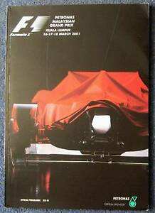 MALAYSIAN-GRAND-PRIX-F1-Official-Race-Programme-2001