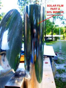 Adhesive Mirror Solar Water Heater Oven Parabolic Aft Ebay