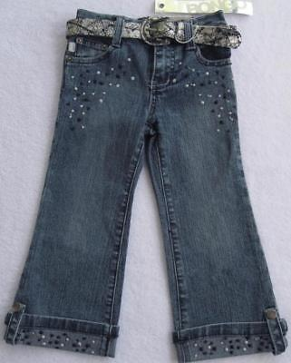 Bongo Girls Blue Jeans With Black & Silver(size 2t)