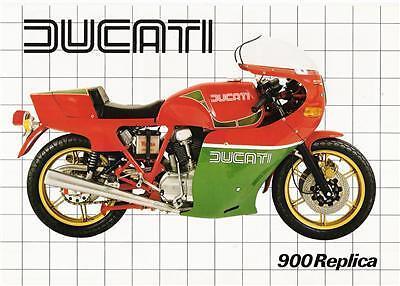 1982 Ducati 900mhr Mike Hailwood Replica Brochure Gold