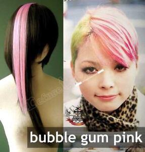 5-STREAK-MULTIPACK-1x15-Bubblegum-Pink-Punk-Lolita-Cosplay-Hair-Extension