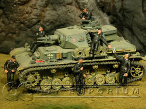 Custom Built 1:35 WWII German Summer Tank Crew Set (6)