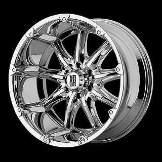 "20"" XD BADLANDS CHROME RIMS WITH 38X15.50X20 NITTO MUD GRAPPLER MT TIRES WHEELS"